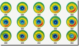 DISMINUYE el agujero de ozono